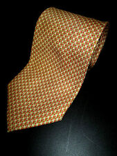 ERMENEGILDO ZEGNA NECKTIE TIE mens ivory brown red diamond 100% silk Italy mens