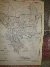 Turkey in Europe Greece+Ionian Islands 1863WeekDispatch Atlas30x43cmFramed20more
