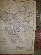 Turkey in Europe Greece+Ionian Islands 1863WeekDispatch Atlas30x43cmFramed20more