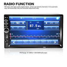 7'' LCD 2 DIN In-Dash Bluetooth Car Stereo FM Radio MP3 Player Touch Screen AUX