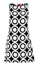 Desigual by Lacroix Vest_Natalia Black White Circle Shift Dress UK 20 ES 46