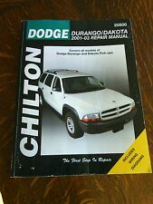 Dodge Durango Dakota Owners Workshop Repair Service Manual 2001  03 Chilton Book