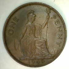 1940 Bronze One Pence UK One Penny Great Britain Coin XF