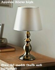 Antique Style Harvard Gold And Cream Satin Effect Table Lamp Room Decoration