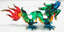 Lucky Dragon hand blown Colored glass figurine for Decoration