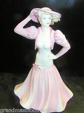 COALPORT LADIES OF FASHION SUMMER ROMANCE PINK LADY FIGURINE 21cm FIGURE LOVELY