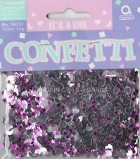 1 PACK IT'S A GIRL CONFETTI /  TABLE SPRINKLES PINK COLOUR TABLE DECORATIONS
