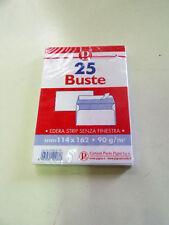 PIGNA - BUSTE POSTALI SENZA FINESTRA - 114x162mm - 90 g/mq - BIANCHE - 25 PEZZI