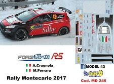 DECAL  1/43 -  FORD  FIESTA R5   -  CRUGNOLA - Rally Montecarlo    2017