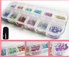 Women  Decorat Manicure Wheel Supplies Nail Art Rhinestones Glitters Tips1200pc