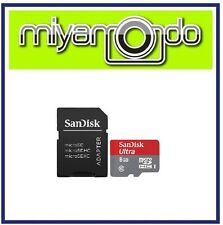SanDisk Ultra 8GB Micro SDHC Memory Card with Adapter