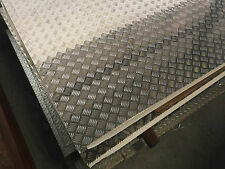 Aluminium Checker Plate Sheet 5 bar 2mm x 1200mm x 2400mm