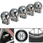 4Pcs Red Eyes Evil Skull Tyre Tire Air Valve Stem Dust Caps For Car Bike Truck