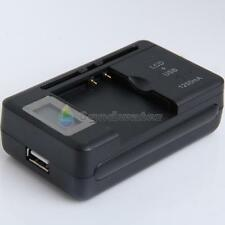 Universal LCD Screen USB AC Phone Battery Li-ion Home Wall Dock Travel Charger