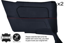 RED STITCH 2X REAR FULL DOOR CARD COVERS FITS BMW E30 84-93 CONVERTIBLE