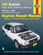 1975-1992 Haynes Volkswagen Rabbit, Golf, Jetta, Scirocco & Pick-Ups Repair Manu