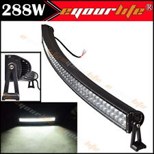 Eyourlife 288W 50 inch Curved LED Light Bar Mining Offroad SUV Jeep of US Stock