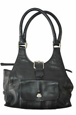 COCCINELLE WOMEN'S BLACK LEATHER SHOULDER BAG W10.5, D3.5, H5.5