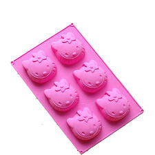 Hello kitty Style 6Cav Cake Chocolate Cookie Muffin Jello Pudding Mold Ice Tray