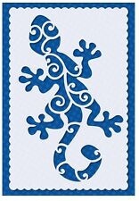 Flexible Stencil *GECKO LIZARD* Embossing Pricking Card Making - 9.5 x 14.5cm