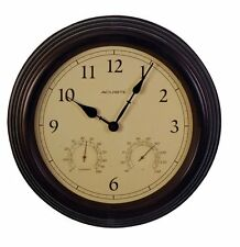 "Acurite 15"" Copper Patina Indoor Or Outdoor Clock With Thermometer & Humidity"