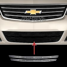 2013-2015 Chevy Traverse LT CHROME Snap On Grille Overlay Lower Grill Bar Covers