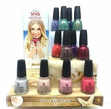 China Glaze- Seas and Greetings Holiday 2016 Collection (83775-83786) NO DISPLAY