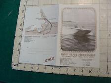 Vintage CLEAN Boat brochure: NORTHEAST FIBERGLASS--hull Ma. 1974