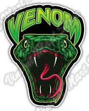 "Angry Snake Head Back Off Venom Car Bumper Window Vinyl Sticker Decal 4""X5"""