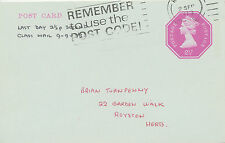 2441 9.9.1973 Machin 2 1/2 P postal stationery pc Last Day of 2 1/2 P 2nd class