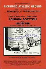 LONDON SCOTTISH v LEICESTER 4 Apr 1981 RFU CUP SEMI-FINAL RUGBY PROGRAMME