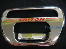 CHROME TAILGATE INSERTS COVER TRIM MITSUBISHI L200 ANIMAL TRITON 2005-2012 V.2