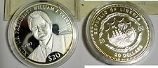 Liberia 2000 Large .999 Silver Proof $20-42nd President Bill Clinton