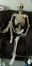 Halloween 5ft giant life size poseable skeleton Perfect decoration for parties!