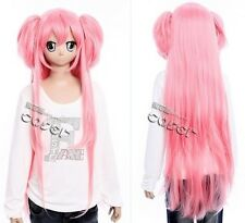 W-223 Puella Magi Madoka Magica Mahou Shojo Cosplay Perücke Wig rosa pink 100cm