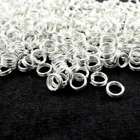 Wholesale New Silver Plated Metal Double Loop Split Jump Ring 4/5/6/8/10/12/14mm