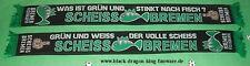 """Anti Bremen Schal """"Grün und weiss,der..."""" Ultra Fan Block Scarf 100% Acryl +neu+"""