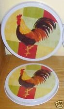 """2 Cooking Concepts ROOSTER Replacement Stove Burner Covers Set 1-10"""" & 1-8"""" New"""