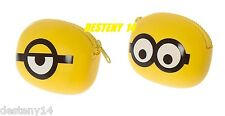 Despicable Me Minion Coin Purse Made Jelly Silicone Yellow Universal Studios NWT