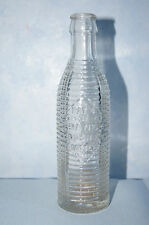 Vintage Orange Crush soda bottle clear ribbed cracked bottom pat July 29 1920