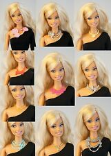 Lot 10 pcs Mattel Barbie FR Vintage Plastic Necklace for 1/6 12 inch Doll DA103