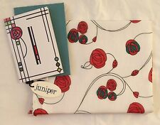 NEW 100% COTTON WOMEN'S MACKINTOSH STYLE RED ROSES PRINT SCARF WITH CARD