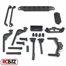 Carisma GT14 R14 Body & Bumper Post set CA14336 battery plate side bars etc