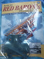 BUILD THE RED BARON'S FIGHTER PLANE FOKKER DR1  HACHETTE  ISSUE 91  NEW SEALED