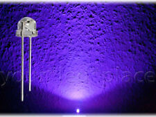 100 x LED 5mm straw hat UV Ultraviolett 90-120° 300mcd Kurzkopf Flachkopf purple