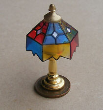1:12 Scale Non Working Table Lamp Coloured Shade Doll House Miniature Light 192T