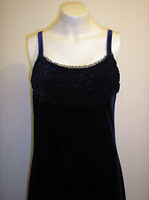 Gorgeous Midnight Blue Full Length Dress from River Island - Size 16 - BNWOT!!