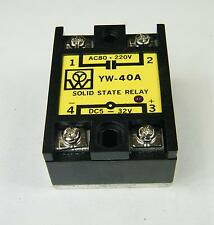 SOLID STATE RELE SSR  220V 40A     YW-40A  INPUT 5-32DC