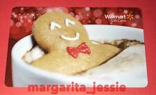 WALMART US 2016 GIFT CARD GINGERBREAD MAN SOAKING IN HOT CHOCOLATE NEW NO VALUE