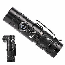 ROFIS TR10 900 Lumen 90 Degree Head Rotation CREE XP-L HI V3 LED Flashlight